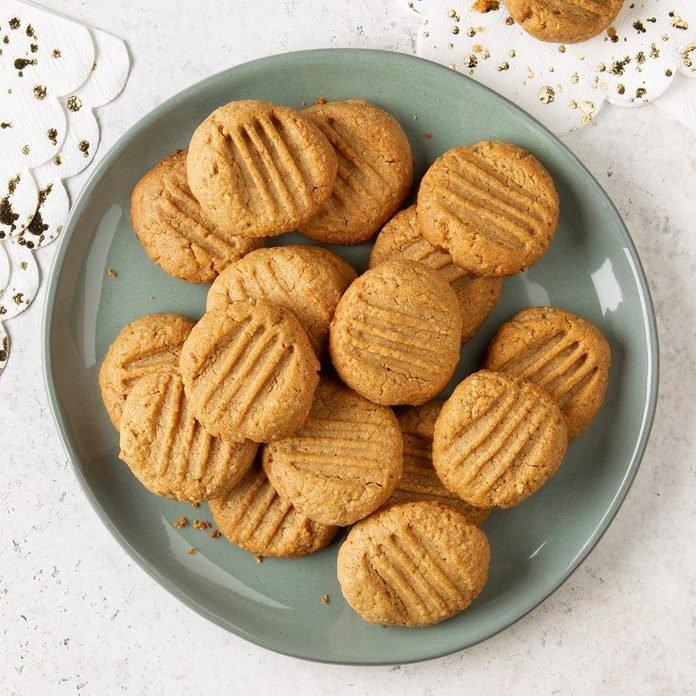 Galletas de mantequilla de maní saludables