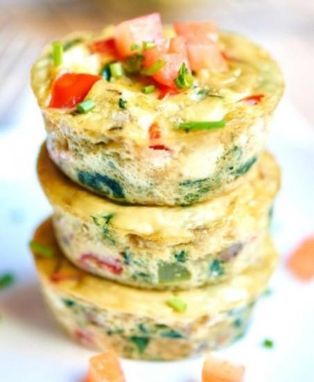 Tazas de muffins de huevo saludables