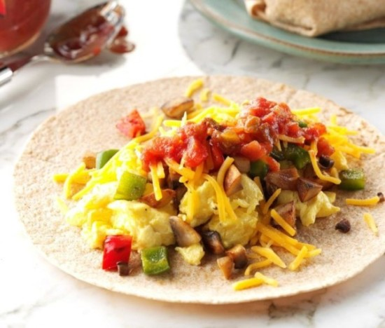 Burritos de desayuno
