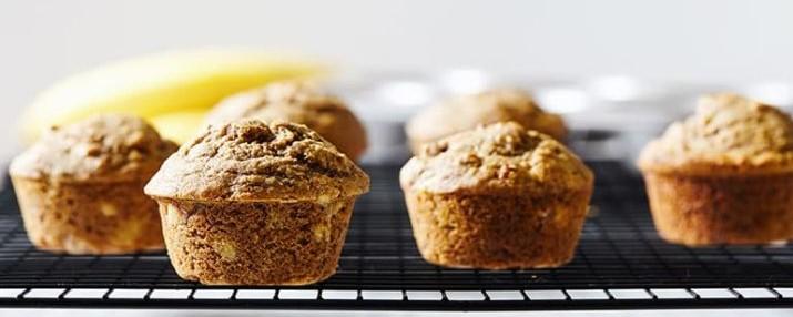 Muffins de plátano para el desayuno