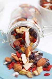 Mezcla de frutos secos con superalimentos